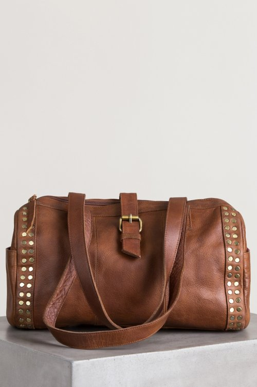 Salem Studded Leather Shoulder Bag