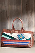 Will Oaxacan Hand-Woven Wool and Leather Duffel Bag