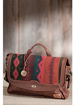 Will Oaxacan Hand-Woven Wool and Leather Messenger Bag