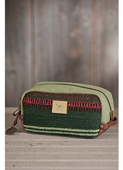 Will Oaxacan Hand-Woven Wool and Leather Travel Kit
