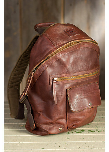 Will Silas Bridle Leather Backpack