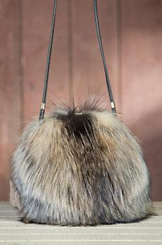 Canadian Fox Fur Muff Crossbody Handbag
