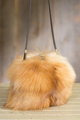 Canada Red Fox Fur Muff Handbag