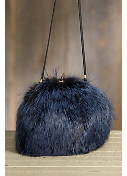 Canada Red Fox Fur Muff Handbag
