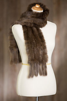 Knitted Russian Sable Fur Scarf