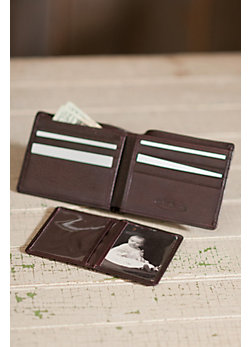 Leather Wallet with Removable ID Case