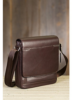 Flynn Argentine Leather Messenger Bag