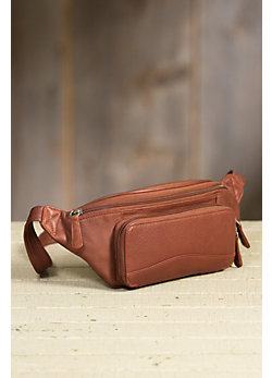 Waist Pack Organizer Leather Bag with RFID Protection