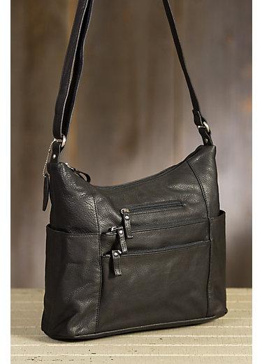 Susan Pebbled Leather Shoulder Bag