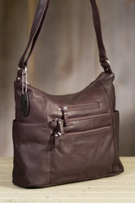 Susan Pebbled Leather Tote Bag