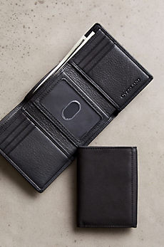ID Trifold Leather Wallet with RFID Protection
