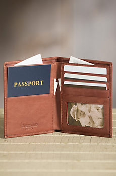 Leather Passport Wallet with RFID Protection