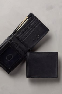 Flipper Leather Billfold Wallet with RFID Protection