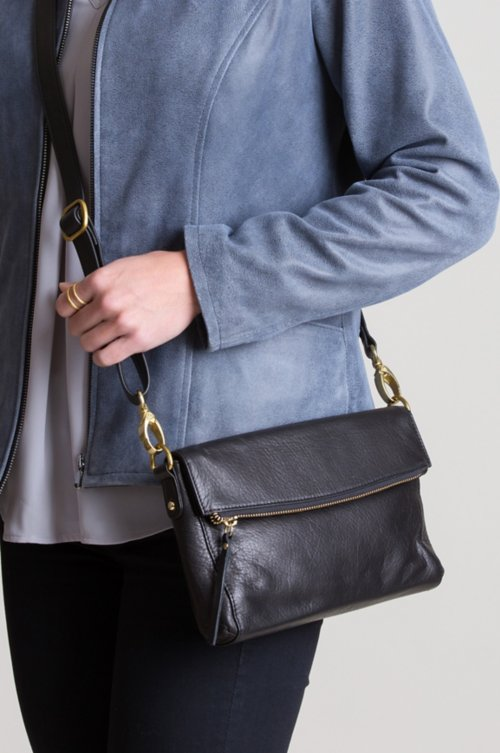 Florence Leather Convertible Crossbody Clutch