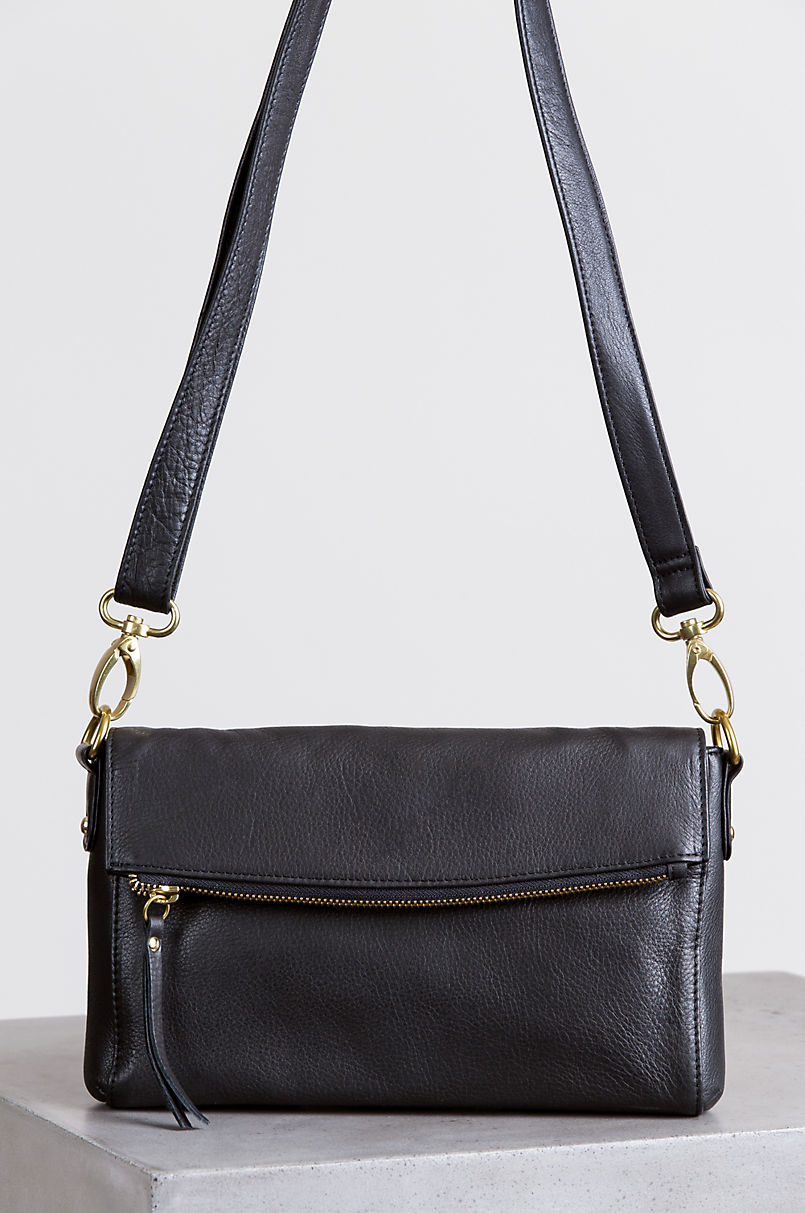 Debbie Leather Convertible Crossbody Clutch with RFID Protection