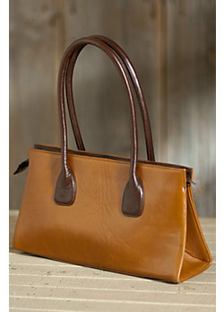 Vachetta Small Zip Leather Tote Bag