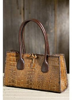 Overland Imperial Embossed Leather Handbag