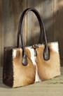 Overland Small Springbok and Leather Handbag