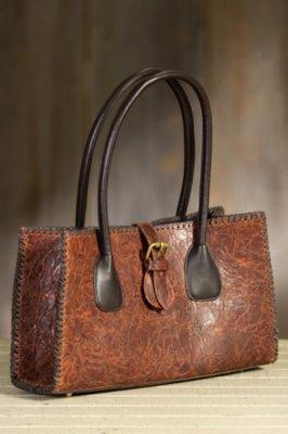 Overland Addario Tooled Leather Handbag