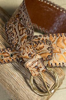 Overland Brandt Tooled Leather Belt