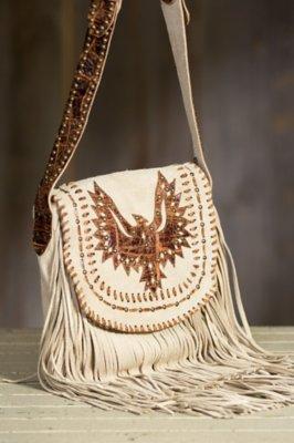 Overland Wittmann Suede Handbag with Fringe