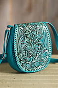 Overland Payson Tooled Leather Crossbody Handbag