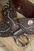 Overland Concho Leather Belt