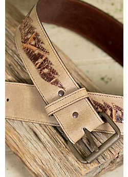 Overland Croc Classic Leather Belt