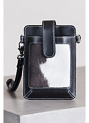 Lamar Cowhide Crossbody Phone Case Wristlet Wallet