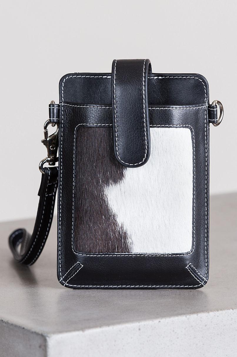 Odessa Cowhide Crossbody Phone Case Wristlet Wallet