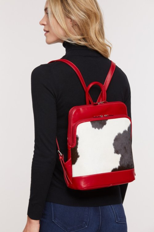 Odessa Cowhide Backpack Purse