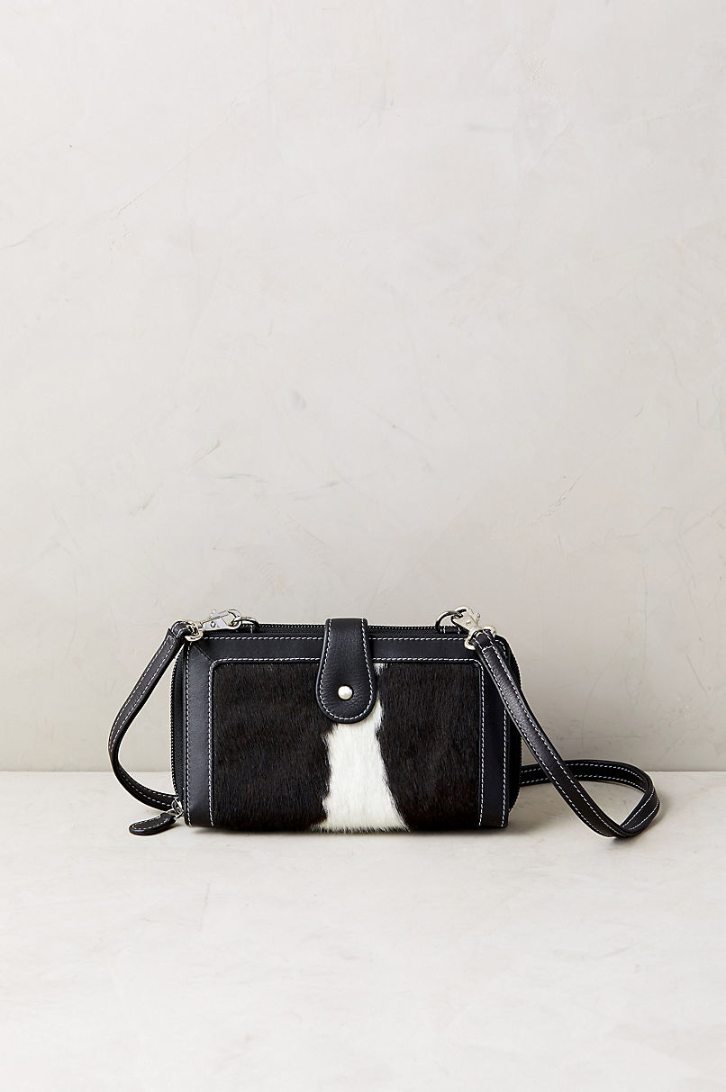Odessa Cowhide Crossbody Clutch Wallet with RFID Protection