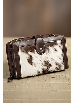 Overland Hanna Cowhide Crossbody Wallet with RFID Protection