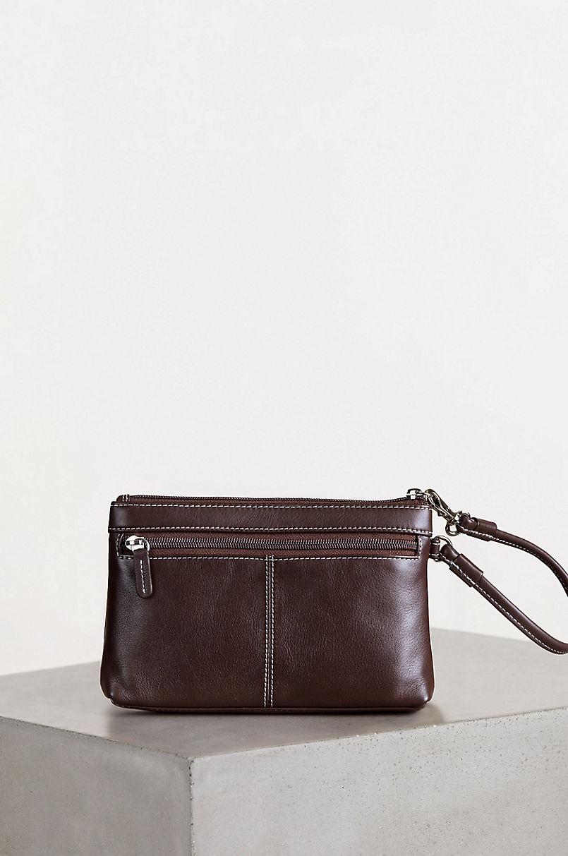 Odessa Cowhide Wristlet Clutch Wallet