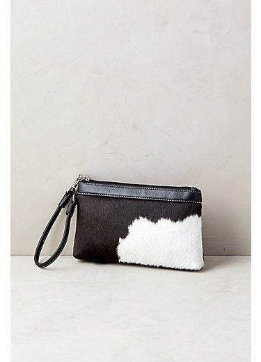 Overland Lanie Cowhide Wristlet Clutch Wallet