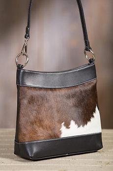 Overland Cheyenne Cowhide Crossbody Tote Bag