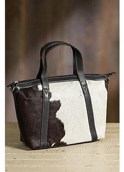 Overland Dakota Cowhide Crossbody Tote Bag