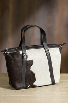 Overland Dakota Cowhide Crossbody Tote Bag