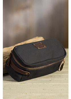 Will Desmond Canvas and Leather Travel Kit