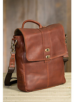 Will North-South Bridle Leather Messenger Bag