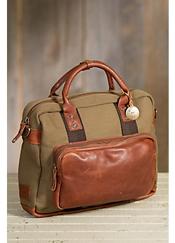 Will Signature Canvas and Bridle Leather Briefcase