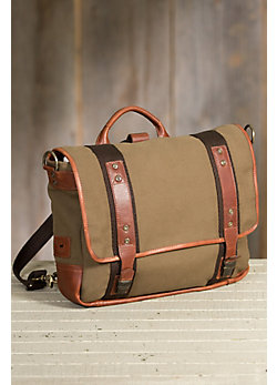 Will Canvas and Leather Convertible Messenger/Backpack