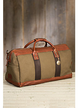Will Barrel Canvas and Leather Duffel