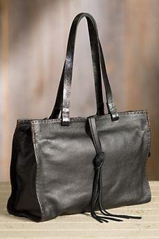 Overland Carmel Vintage Leather Tote Bag