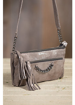 Overland Gabby Italian Calfskin Leather Crossbody Handbag
