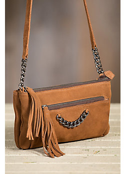 Overland Gabby Italian Calfskin Leather Crossbody Handbag