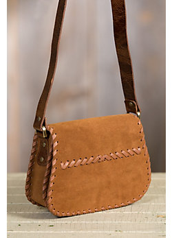 Overland Katrina Italian Calfskin Suede Crossbody Handbag