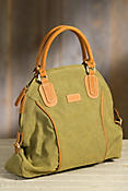 Overland Boone Canvas and Leather Handbag