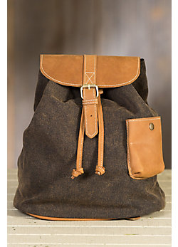 Overland Adair Canvas and Leather Backpack