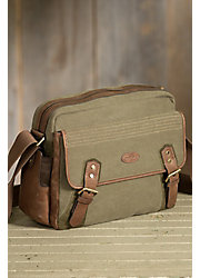 Overland Norris Canvas and Leather Messenger Bag